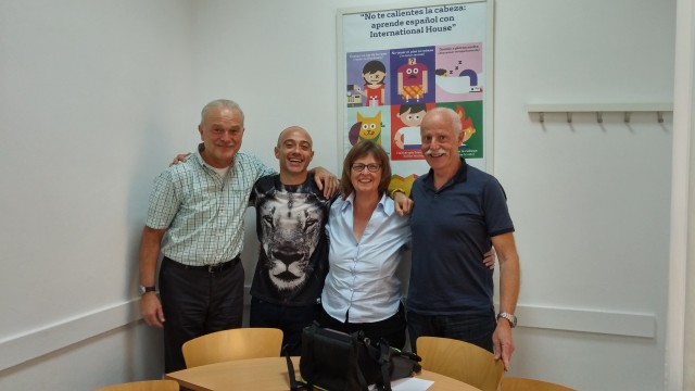 Left to right: Louís, Juande (el profesor), Dorothy, Urs. Antonia had to leave early today so she is missing from the photo.